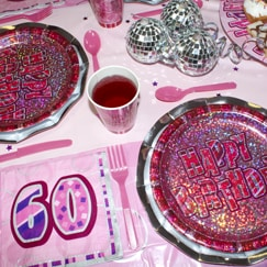 Pink Glitz 60th Birthday
