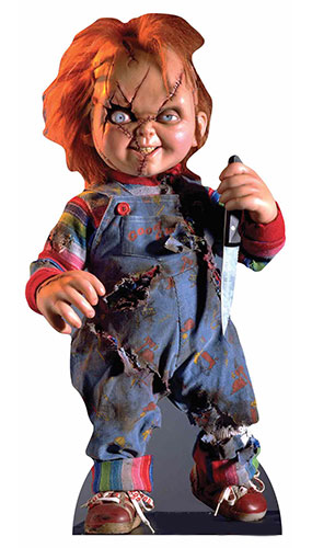Scarred Chucky Doll Star Mini Cardboard Cutout 75cm Product Gallery Image