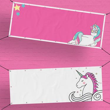 Unicorn Personalised Banners