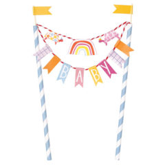 Zoo Baby Shower Bunting Cake Topper 21cm