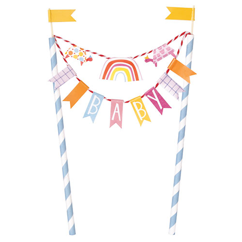 Zoo Baby Shower Bunting Cake Topper 21cm Product Image
