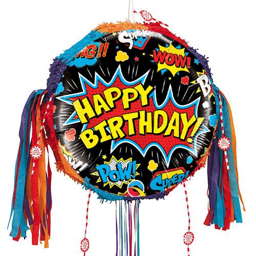 birthday-superhero-black-pull-string-pinata-product-image