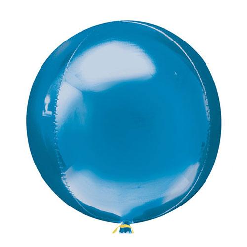 Blue Orbz Foil Helium Balloon 38cm / 15 Inch