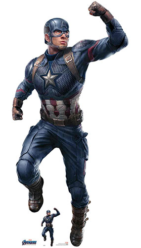 Captain America Chris Evans Marvel Avengers Endgame Lifesize Cardboard Cutout 189cm Product Gallery Image