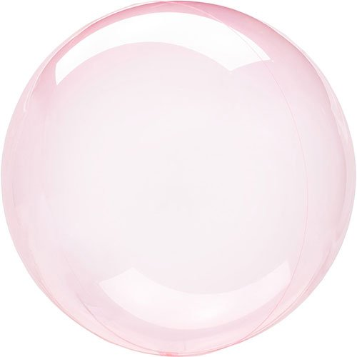 Dark Pink Crystal Clearz Bubble Helium Balloon 46cm / 18 in Product Image