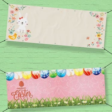 Personalised Easter Banners