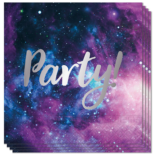Galaxy Party Luncheon Napkins 33cm 2Ply - Pack of 20