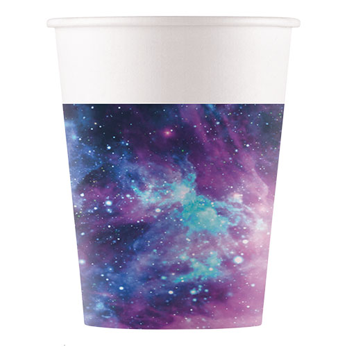 Galaxy Party Paper Cups 200ml - Pack of 8