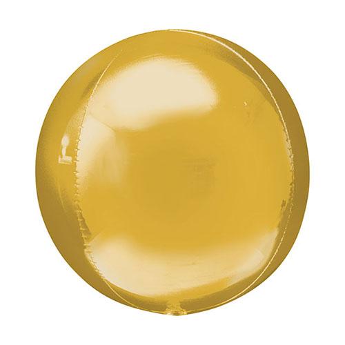 Gold Orbz Foil Helium Balloon 38cm / 15 Inch