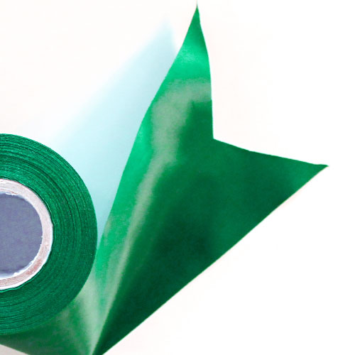 Green Satin Faced Ribbon Reel 100mm x 25m Product Image