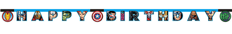 Marvel Avengers Happy Birthday Cardboard Letter Banner 200cm