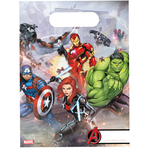 Marvel Avengers Loot Bags - Pack of 6