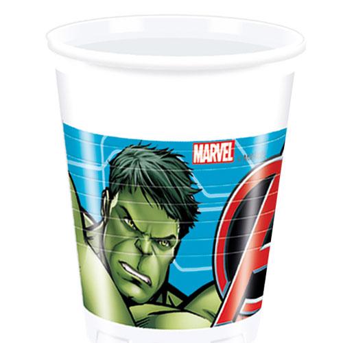 Marvel Avengers Plastic Cups 200ml - Pack of 8