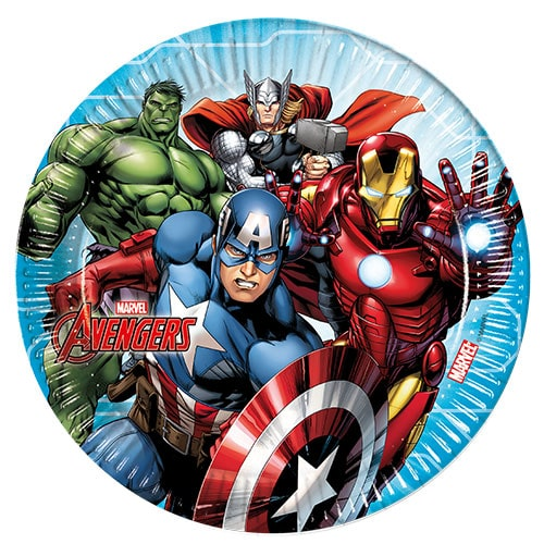 Marvel Avengers Round Paper Plates 23cm - Pack of 8
