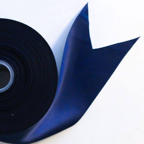 Navy Blue Satin Faced Ribbon Reel 100mm x 91m Product Image