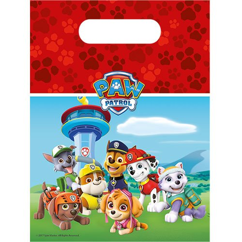 Paw Patrol Party Loot Bags - Pack of 6