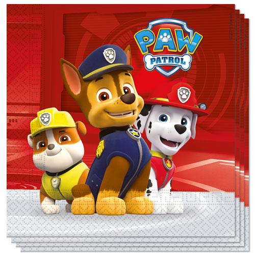 Paw Patrol Party Luncheon Napkins 33cm 2Ply - Pack of 20