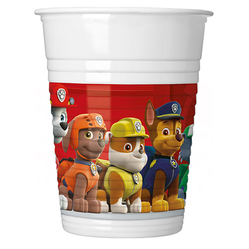 Paw Patrol Party Plastic Cups 200ml - Pack of 8