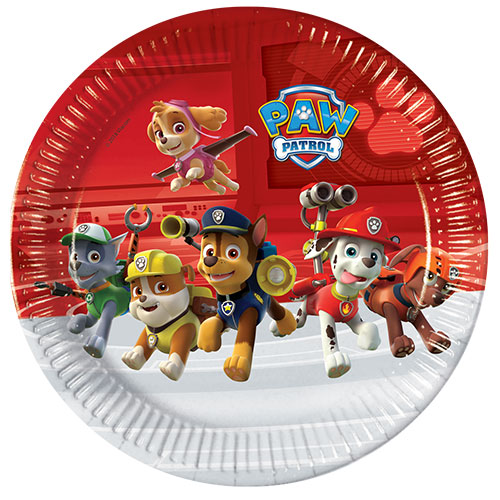 Paw Patrol Party Round Paper Plates 23cm - Pack of 8