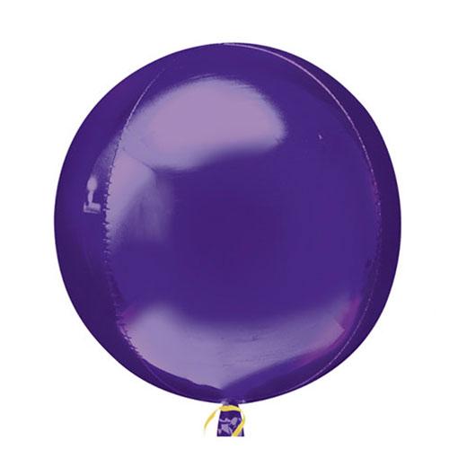 Purple Orbz Foil Helium Balloon 38cm / 15 Inch