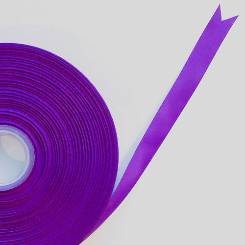 Purple Satin Faced Ribbon Reel 15mm x 91m Product Image