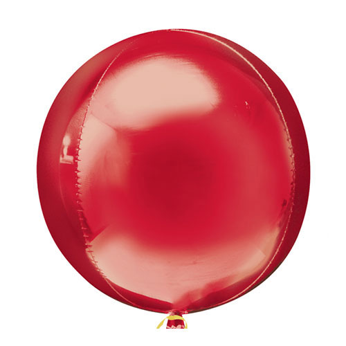 Red Orbz Foil Helium Balloon 38cm / 15 Inch
