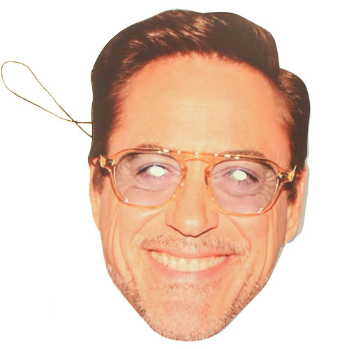 Robert Downey Jr Cardboard Face Mask