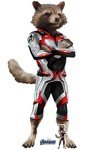 Rocket Raccoon Quantum Suit Marvel Avengers Endgame Star Mini Cardboard Cutout 94cm Product Gallery Image