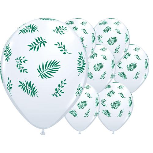 Tropical Greenery Latex Helium Qualatex Balloons 28cm / 11 Inch - Pack of 25