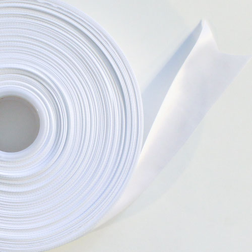 White Satin Faced Ribbon Reel 38mm x 91m Product Image