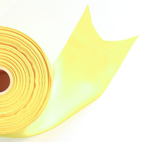 Yellow Satin Faced Ribbon Reel 100mm x 91m Product Image