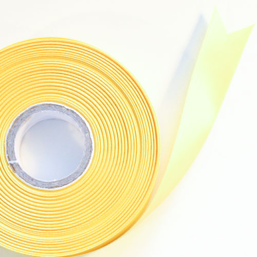 Yellow Satin Faced Ribbon Reel 25mm x 50m Product Image