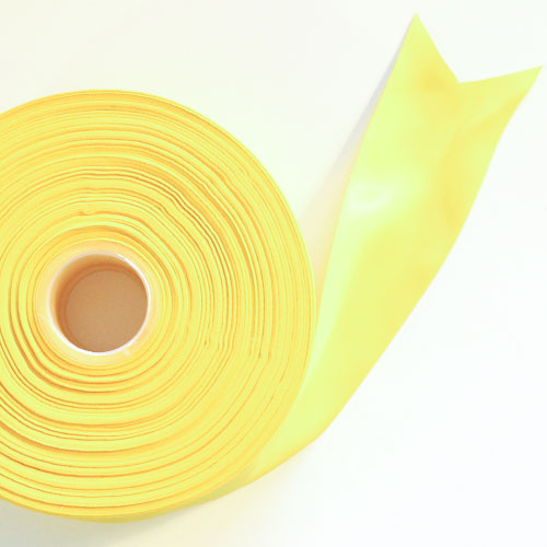 Yellow Satin Faced Ribbon Reel 45mm x 91m