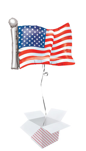 American Flag USA Helium Foil Giant Balloon - Inflated Balloon in a Box