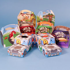 Animal Party Bags And Boxes