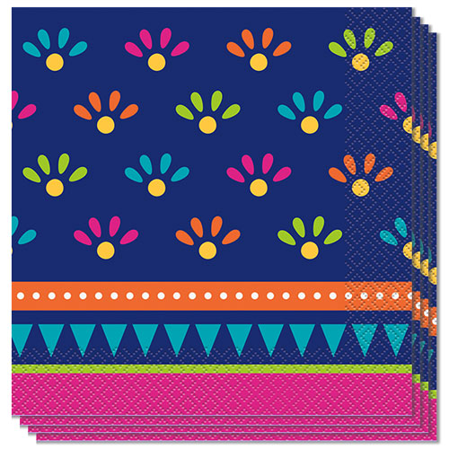 Boho Fiesta Luncheon Napkins 33cm 2Ply - Pack of 20