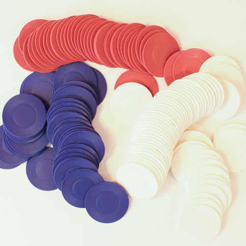 Casino Plastic Poker Chips - Pack of 150