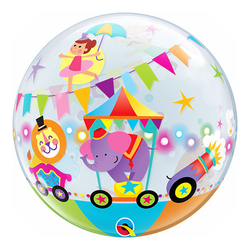 Circus Parade Bubble Helium Qualatex Balloon 56cm / 22 Inch Product Image