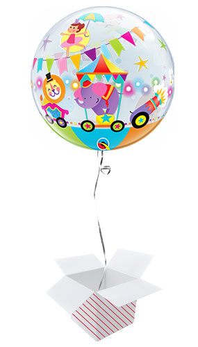 Circus Parade Bubble Helium Qualatex Balloon - Inflated Balloon in a Box Product Gallery Image