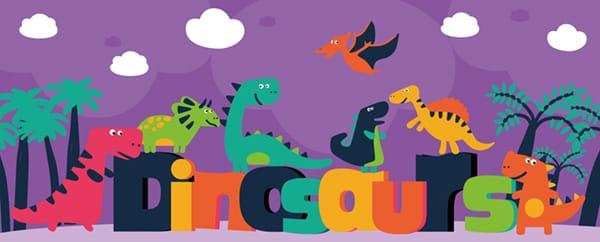 Dinosaur Roar Design Small Personalised Banner - 4ft x 2ft