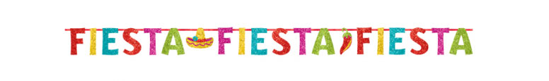 Mexican Fiesta Glitter Cardboard Letter Banner 3.65m