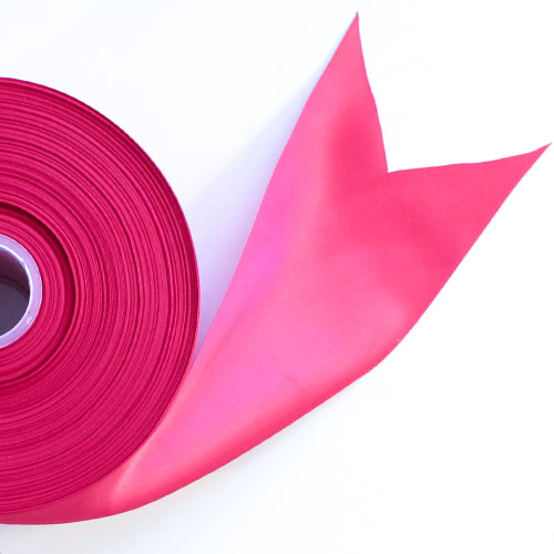 Hot Pink Satin Faced Ribbon Reel 100mm x 91m Product Image