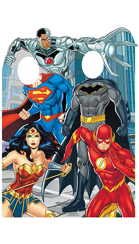 Justice League Animated Child Size Stand In Lifesize Cardboard Cutout 135cm Product Gallery Image