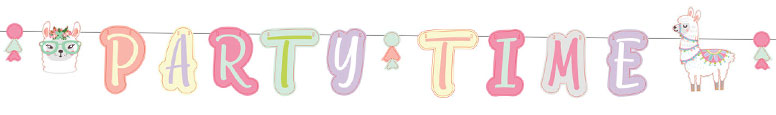 llama-party-cardboard-jointed-letter-banner-240cm-product-image