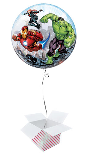 Marvel Avengers Bubble Helium Qualatex Balloon - Inflated Balloon in a Box Product Gallery Image