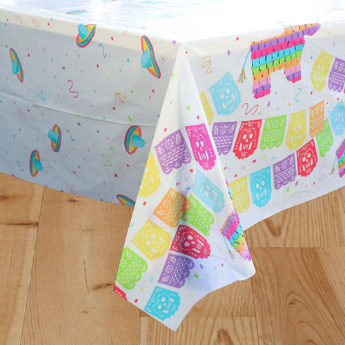 Mexican Fiesta Plastic Tablecover 213cm x 137cm