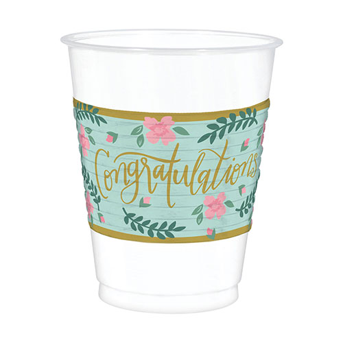 Mint To Be Hen Party Plastic Cups 473ml - Pack of 25