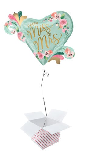Mint To Be Hen Party Helium Foil Giant Balloon - Inflated Balloon in a Box Product Gallery Image