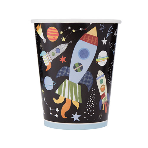 Outer Space Paper Cups 270ml - Pack of 8