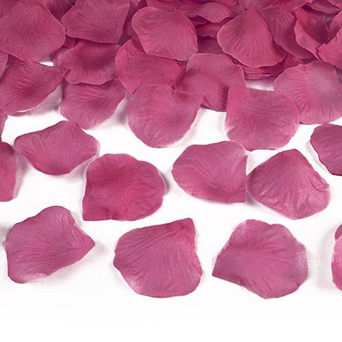Hot Pink Fabric Rose Petals - Pack of 100